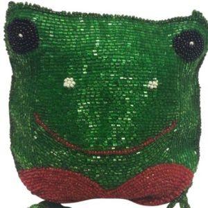 Vintage Bags - Vintage Beaded Frog Purse